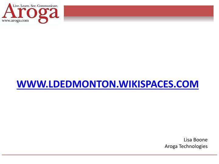 www.ldedmonton.wikispaces.com
