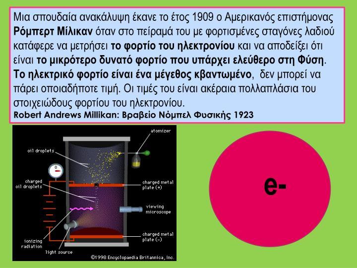 Μια σπουδαία ανακάλυψη έκανε το έτος 1909