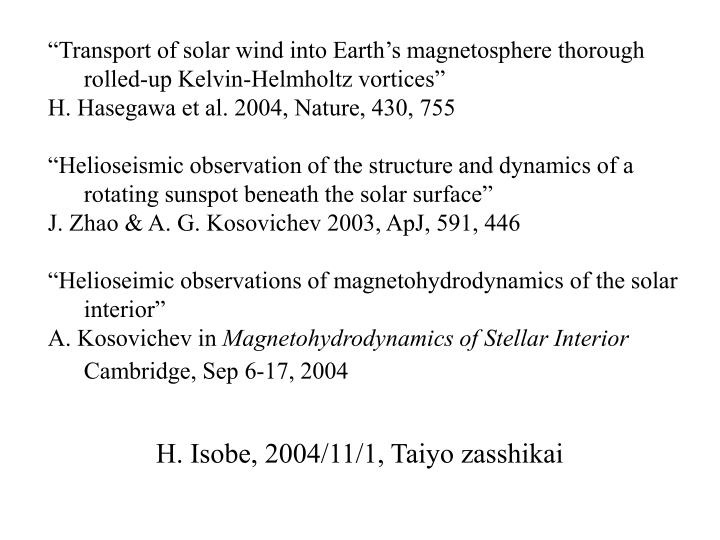 """Transport of solar wind into Earth's magnetosphere thorough   rolled-up Kelvin-Helmholtz vortices"""