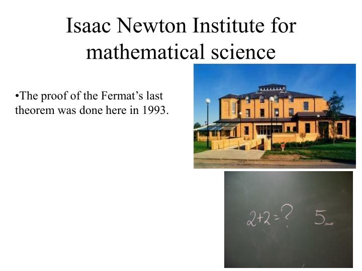 Isaac Newton Institute for mathematical science