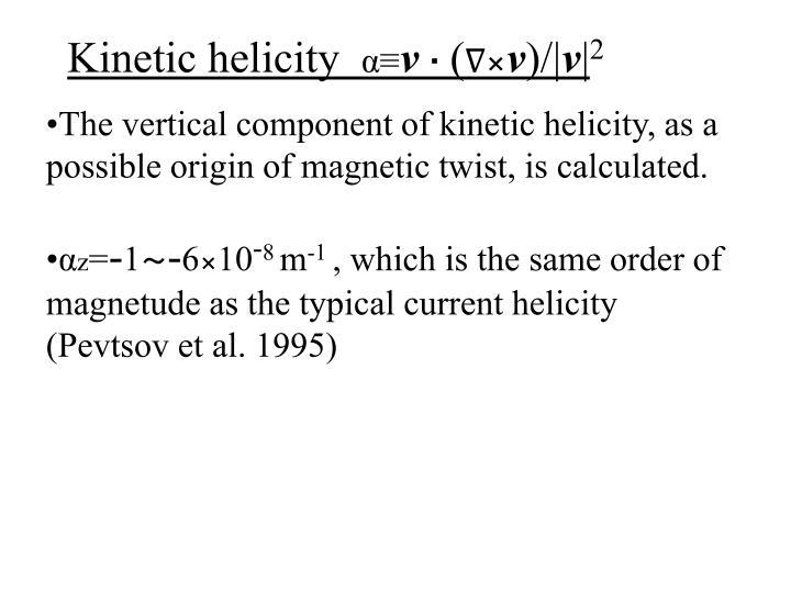 Kinetic helicity