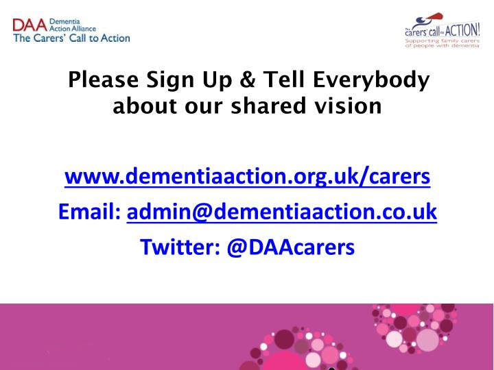 Please Sign Up & Tell Everybody about our shared vision