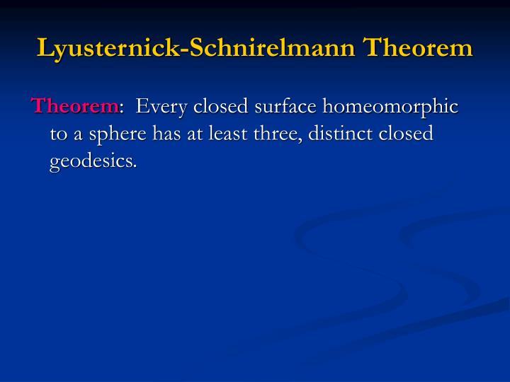 Lyusternick-Schnirelmann Theorem