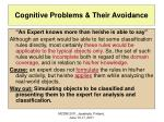 cognitive problems their avoidance