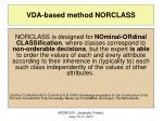 vda based method norclass