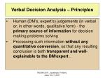 verbal decision analysis principles