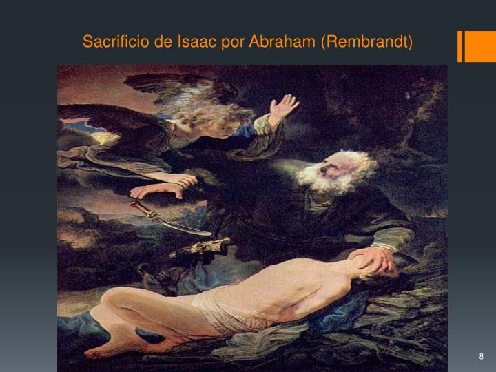 Sacrificio de Isaac por Abraham (Rembrandt)