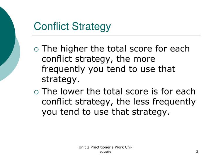 Conflict Strategy