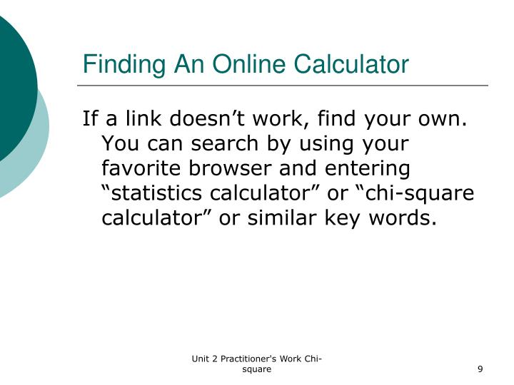 Finding An Online Calculator
