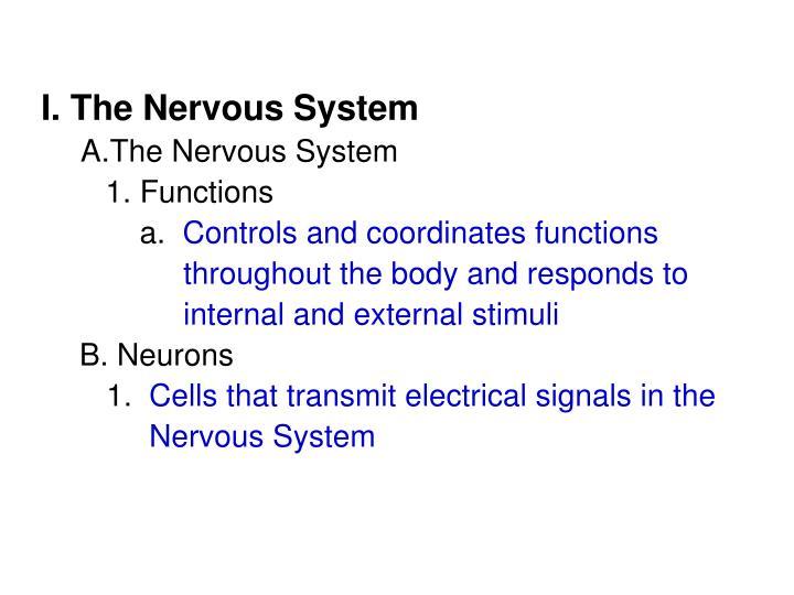 I. The Nervous System