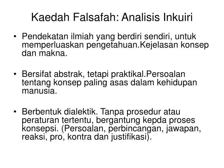 Kaedah Falsafah: Analisis Inkuiri