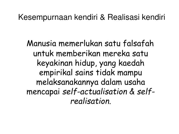Kesempurnaan kendiri & Realisasi kendiri