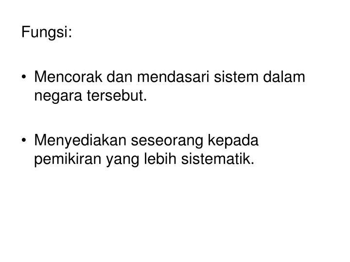 Fungsi: