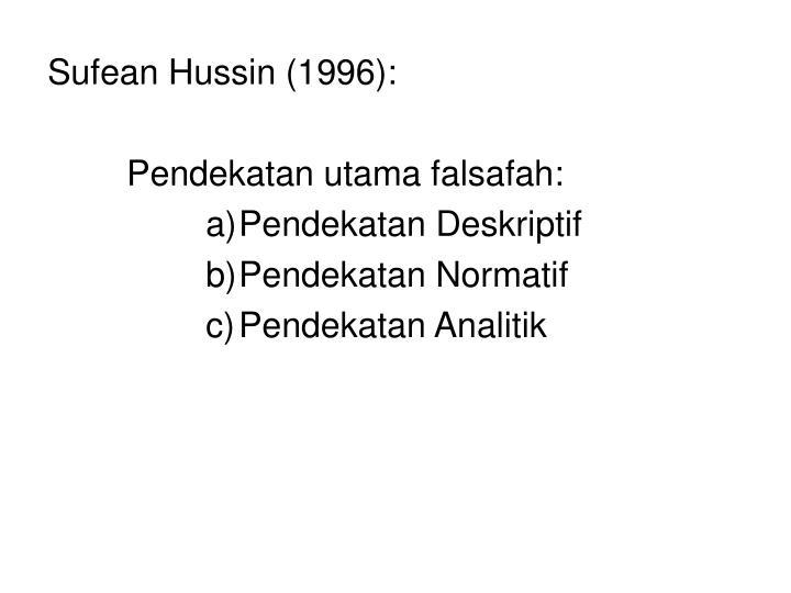 Sufean Hussin (1996):