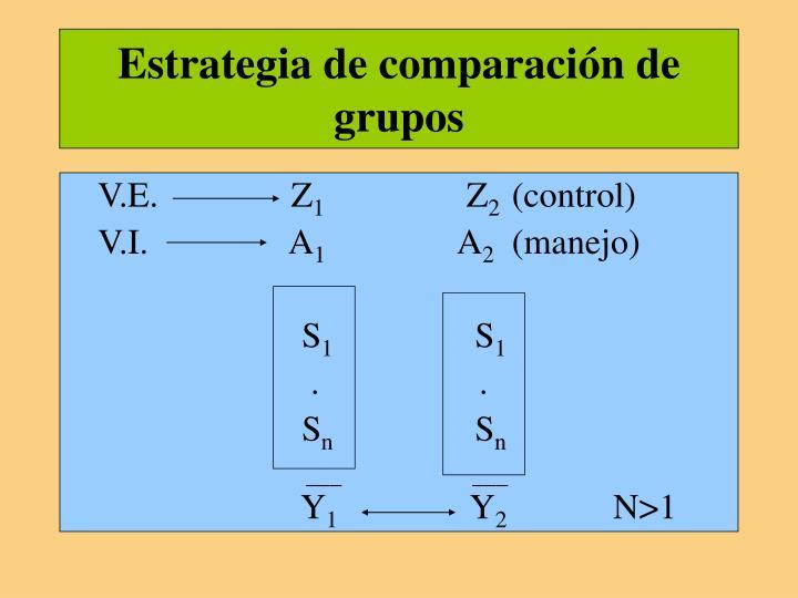 Estrategia de comparación de grupos