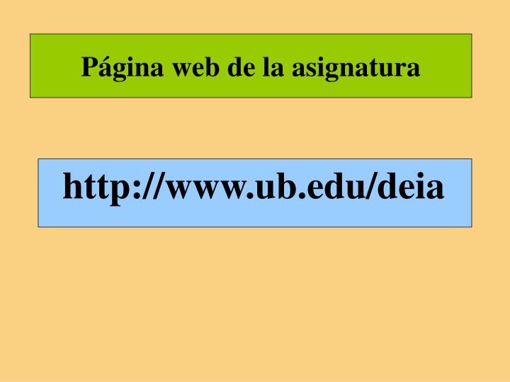 Página web de la asignatura