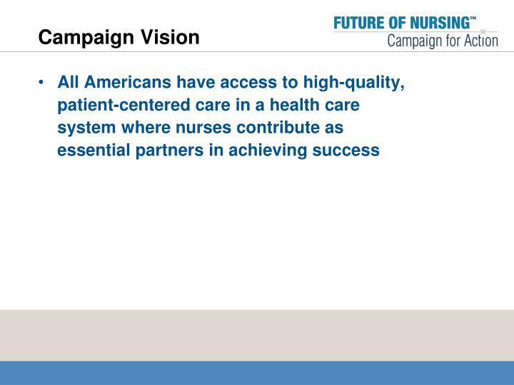 Campaign Vision