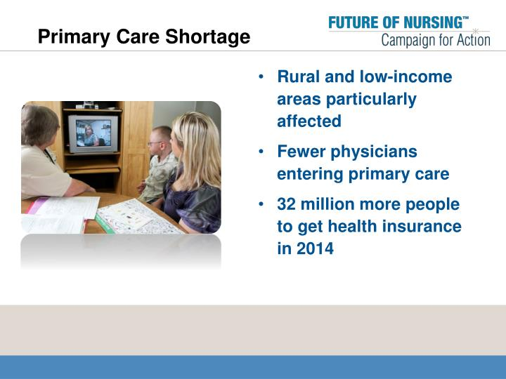 Primary Care Shortage