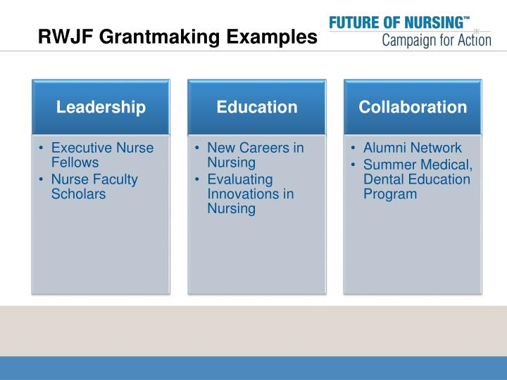 RWJF Grantmaking Examples