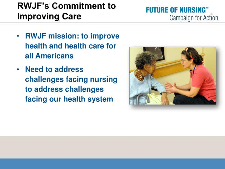 RWJF's Commitment to Improving Care