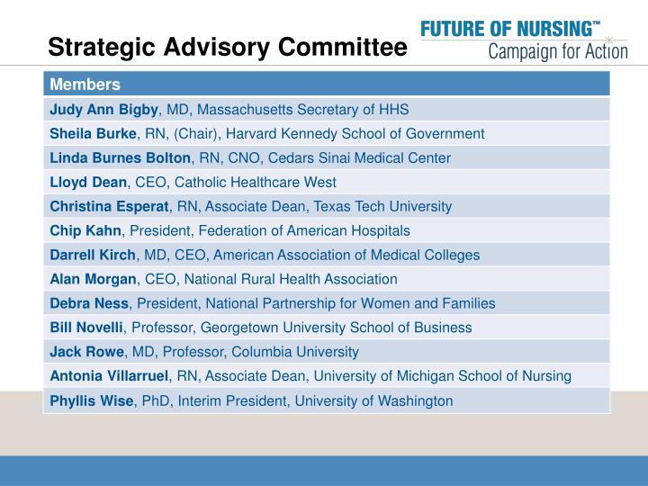 Strategic Advisory Committee