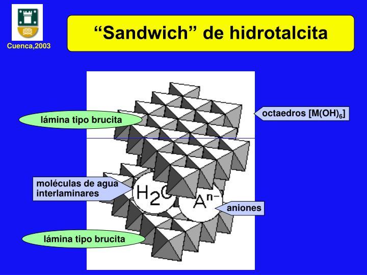 """Sandwich"" de hidrotalcita"
