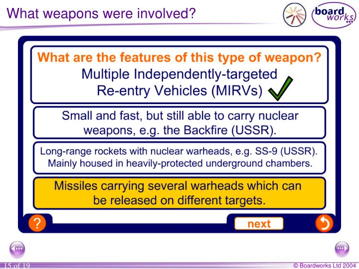 What weapons were involved?