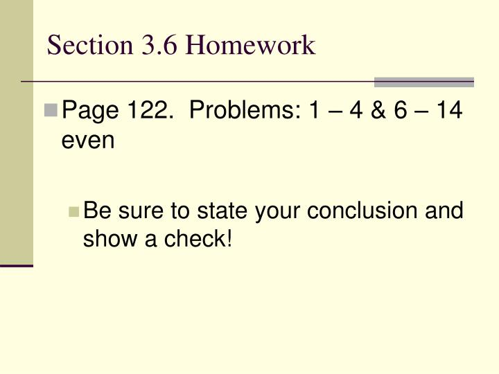 Section 3.6 Homework