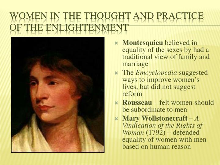 Women in the Thought and Practice of the Enlightenment
