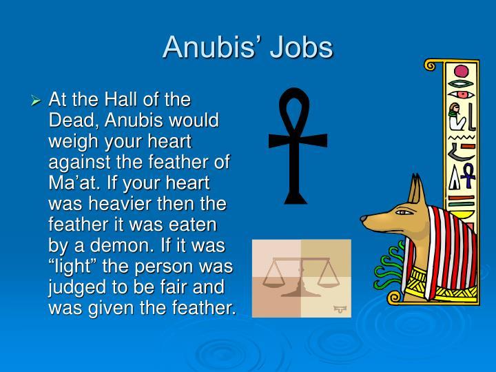 Anubis' Jobs