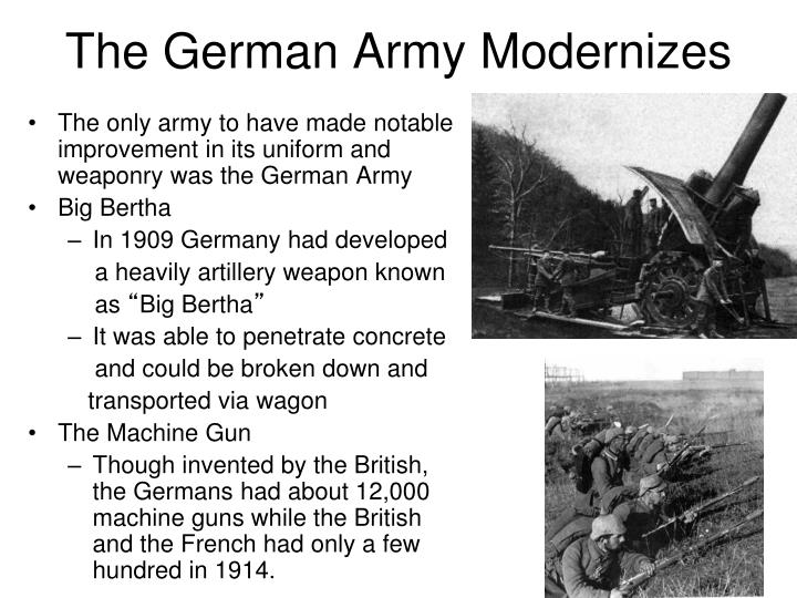 The German Army Modernizes