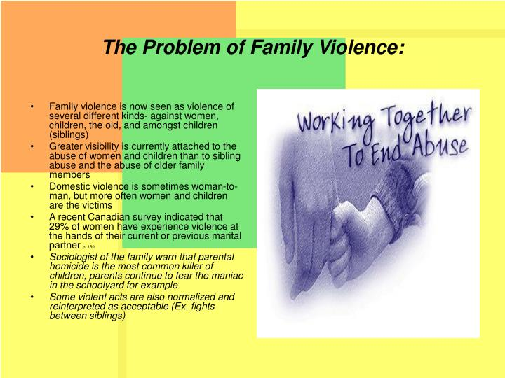 The Problem of Family Violence: