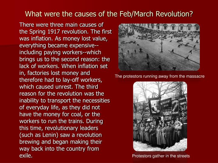 What were the causes of the Feb/March Revolution?