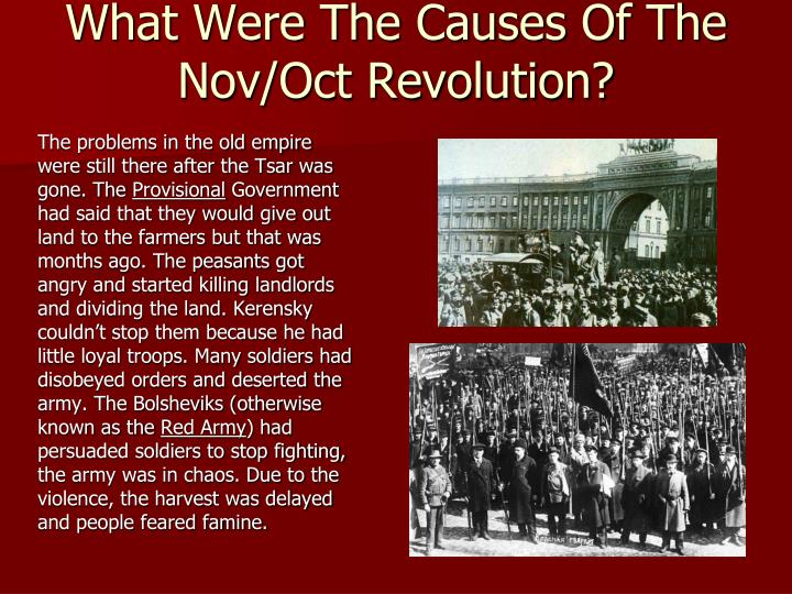 What Were The Causes Of The Nov/Oct Revolution?
