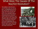 what were the causes of the nov oct revolution