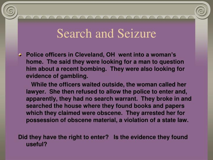 unreasonable searches and seizures If you or a loved one wants information about search and seizure, contact a champaign criminal defense lawyer from bruno law offices by calling (217) 328-6000 today.