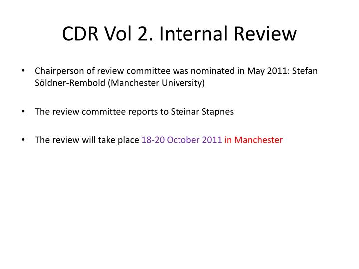 Cdr vol 2 internal review