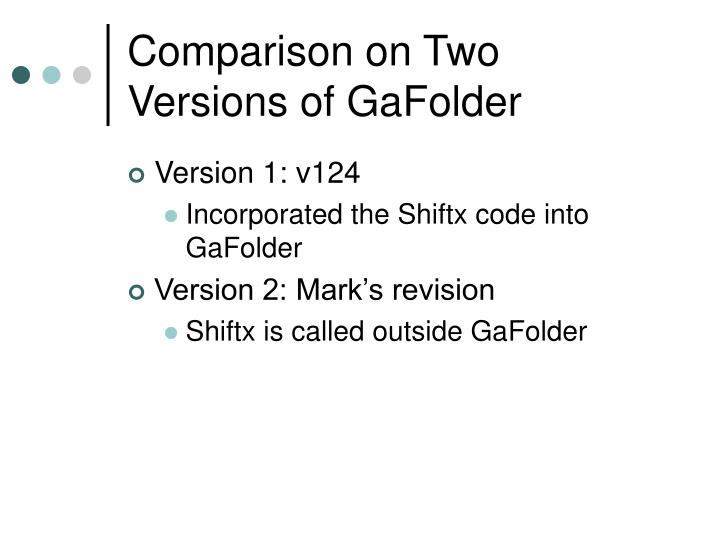 Comparison on Two Versions of GaFolder