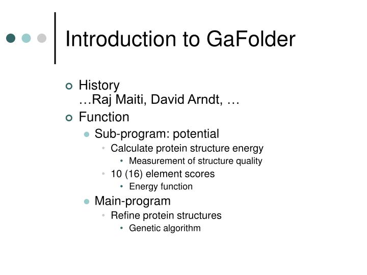 Introduction to GaFolder