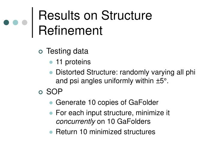 Results on Structure Refinement