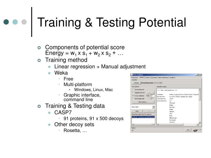 Training & Testing Potential