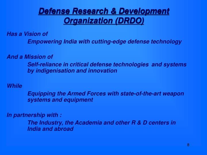 Defense Research & Development Organization (DRDO)