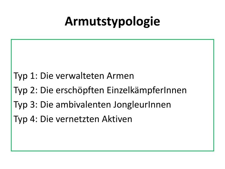 Armutstypologie