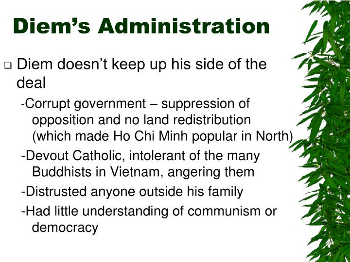 Diem's Administration