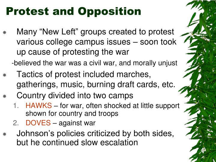 Protest and Opposition