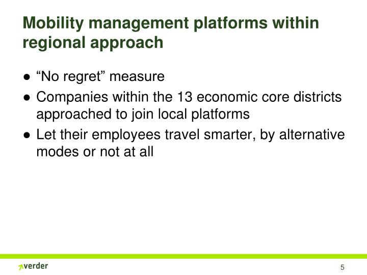 Mobility management platforms