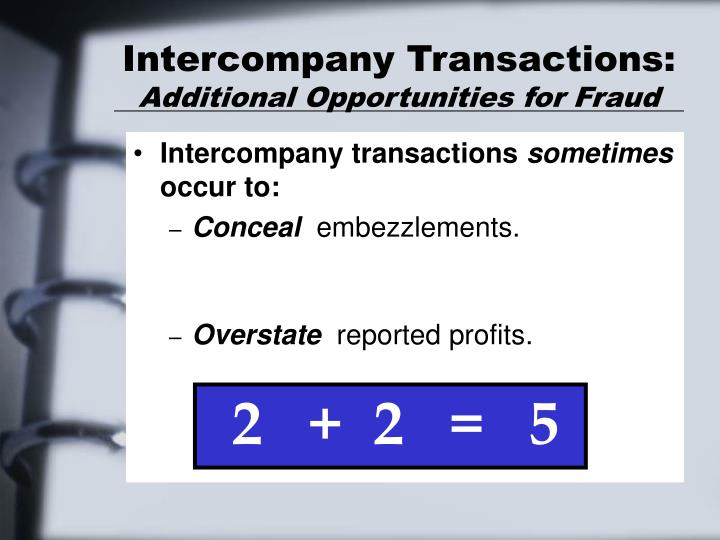 Intercompany Transactions: