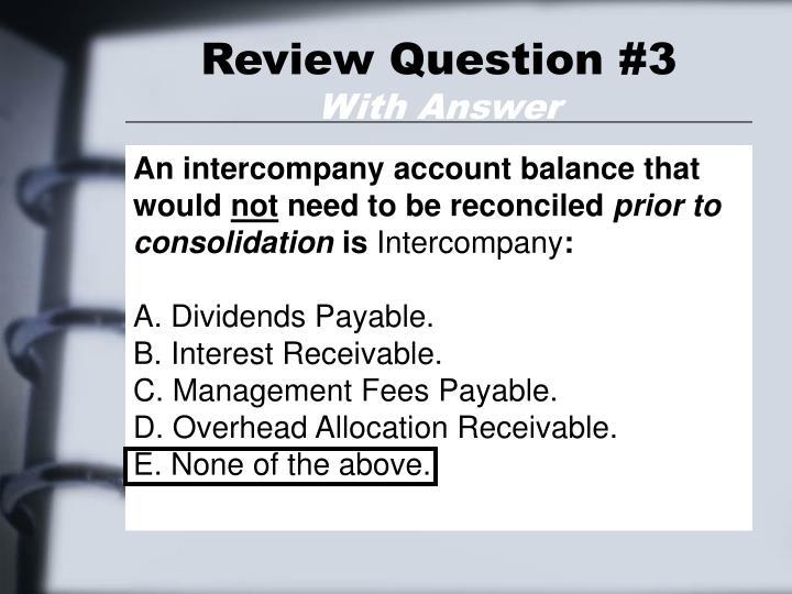 Review Question #3