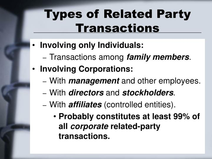 Types of Related Party Transactions