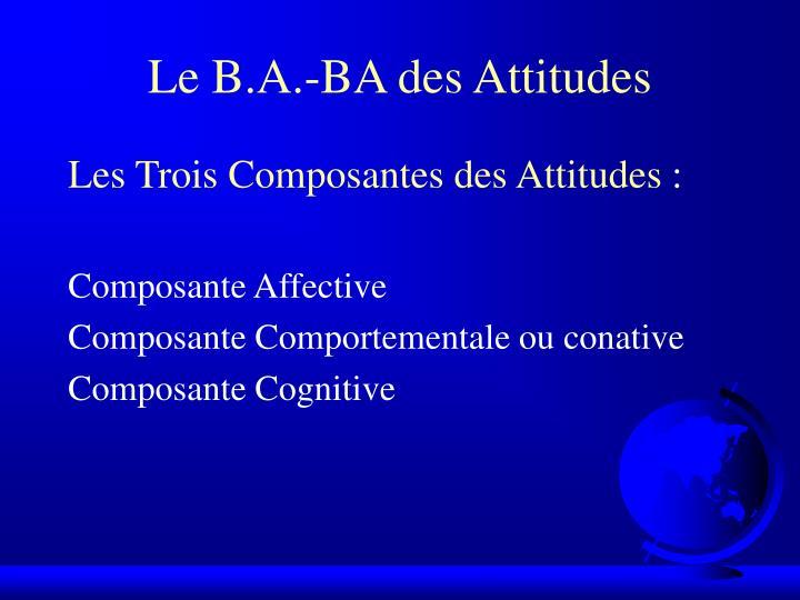 Le B.A.-BA des Attitudes